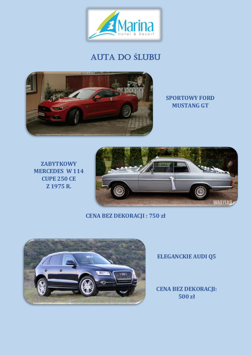 auto do slubu marina